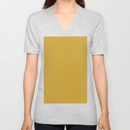 Satin sheen gold Unisex V-Neck