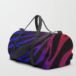 Ripped SpaceTime Stripes - Red/Blue Duffle Bag