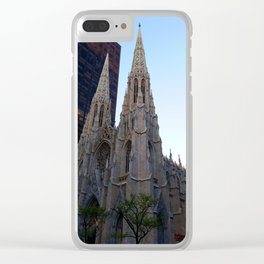 St. Pat's at sunset Clear iPhone Case