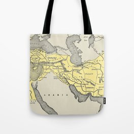 Vintage Map of Alexander The Greats Empire (1913) Tote Bag