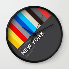 Colors of New York Wall Clock