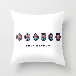 Ship Window National Maritime Day Throw Pillow