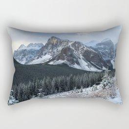 Snow-Capped Rectangular Pillow
