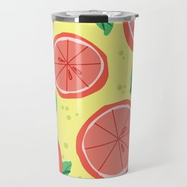 Grapefruit Summer Travel Mug