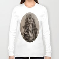 jack sparrow Long Sleeve T-shirts featuring Captain Jack Sparrow by Svartrev