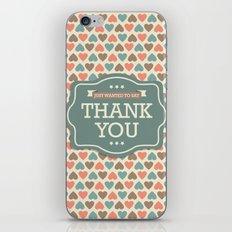 Thank you iPhone & iPod Skin