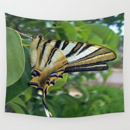 Swallowtail With Partially Closed Wings Side View Wall Tapestry