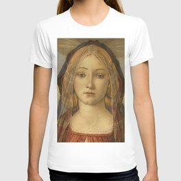 """Sandro Botticelli """"The Virgin and Child with Saint John and an Angel"""" The Virgin T-shirt"""