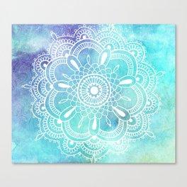 Galaxy Mandala - Watercolor Canvas Print