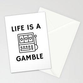 Slot Machine Gamble Stationery Cards