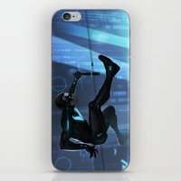 nightwing iPhone & iPod Skins featuring Nightwing Beyond by Yvan Quinet