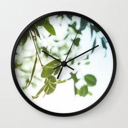 Nature photography I green leaf Wall Clock