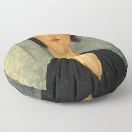 Amedeo Modigliani - Portrait of a Young Woman Floor Pillow