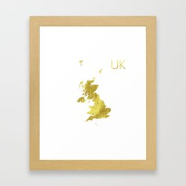 United Kingdom map Framed Art Print