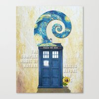 tardis Canvas Prints featuring TARDIS by Cloysterbell