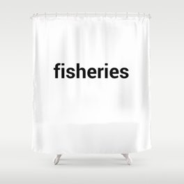 fisheries Shower Curtain