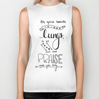 lungs Biker Tanks featuring LUNGS by Lex Bleile