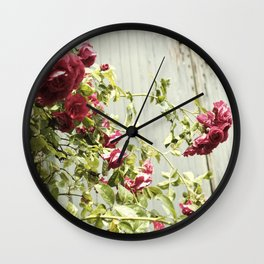 Vintage Rose III  | Pastel Color | Street Photography | Flower Photography | Fine Art Photo Print Wall Clock