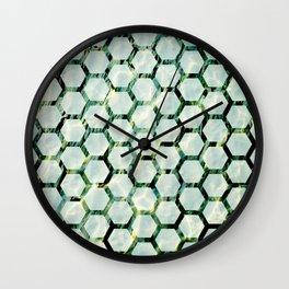 Sea Honeycomb Wall Clock