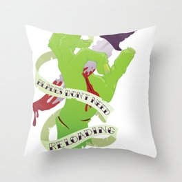 Zombie Hand: Blades Don't Need Reloading Throw Pillow