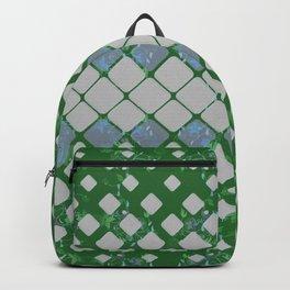 Retro Vintage Boho Geometric Mid Century Subtle Floral Green Backpack