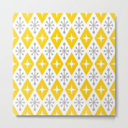 Mid Century Modern Atomic Triangle Pattern 106 Metal Print