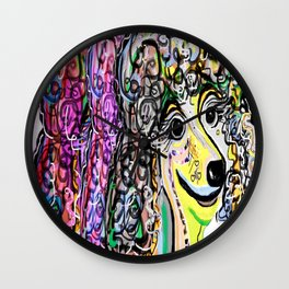 Poodle Color Transition Wall Clock