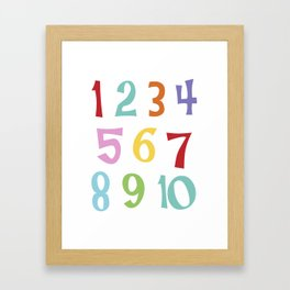 colourful numbers Framed Art Print