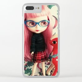 rose and rudolph Clear iPhone Case