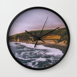 Punakaiki Sunset Wall Clock