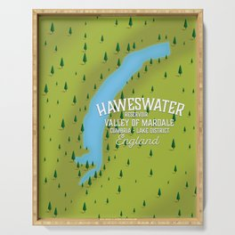 Haweswater, lake district England travel poster Serving Tray