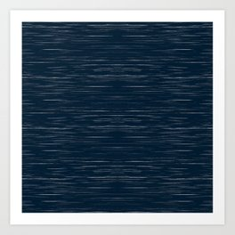 Meteor Stripes - Dark Denim Art Print