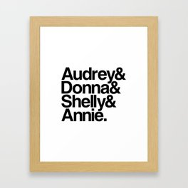 Windom's Queens (White Lodge) Framed Art Print