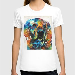 Colorful Dog Art - Heart And Soul - By Sharon Cummings T-shirt