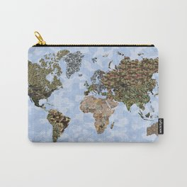 CAMO WORLD ATLAS MAP (blue) Carry-All Pouch