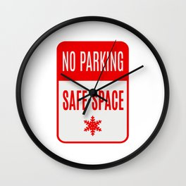 no parking safe space Wall Clock