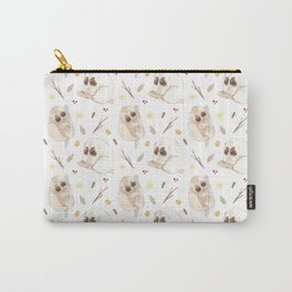 Big sad eyes. Furry little bodies - Watercolor pattern illustration Carry-All Pouch