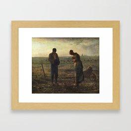 The Angelus by Jean Francois Millet Framed Art Print