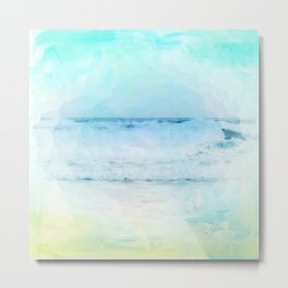 Tranquil Shores - Waves Metal Print