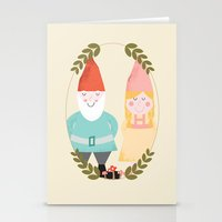 gnome Stationery Cards featuring Gnome Sweet Gnome by Beth Laird