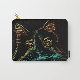 Fluffy Tuxedo Kitty Carry-All Pouch