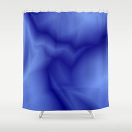 Pastel lines of blue lightning with a vintage gap. Shower Curtain