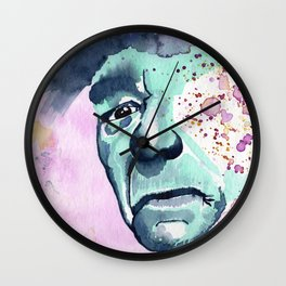 Turquoise Man face Wall Clock
