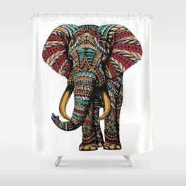 Ornate Elephant (Color Version) Shower Curtain