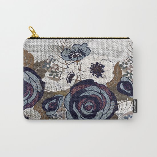 floral band and fabric effect Carry-All Pouch