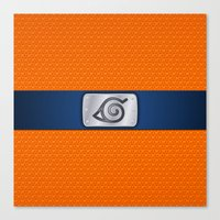 shrek Canvas Prints featuring NARUTO BANDANA HEADBAND by BeautyArtGalery