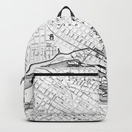 Vintage Map of Richmond Virginia (1884) BW Backpack