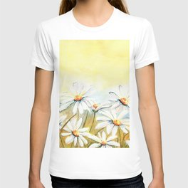 Daisies Watercolor T-shirt