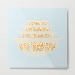 Pumpkin Butterprint Pyrex Metal Print