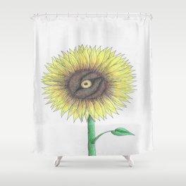 Seeing Sunflowers Shower Curtain